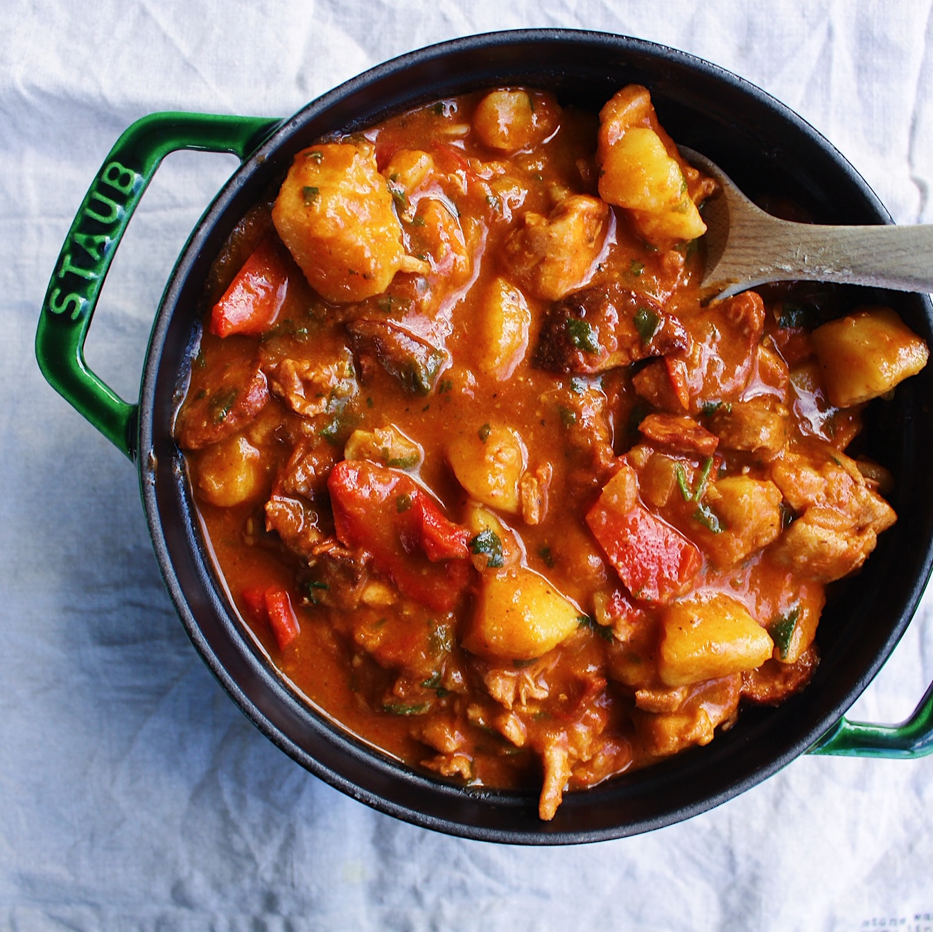 Spanish Chicken Chorizo Amp Potato Braise Spanish Recipes